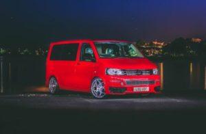 red-folkswagen-van