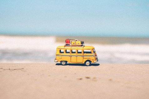 small-miniture-yellow-van